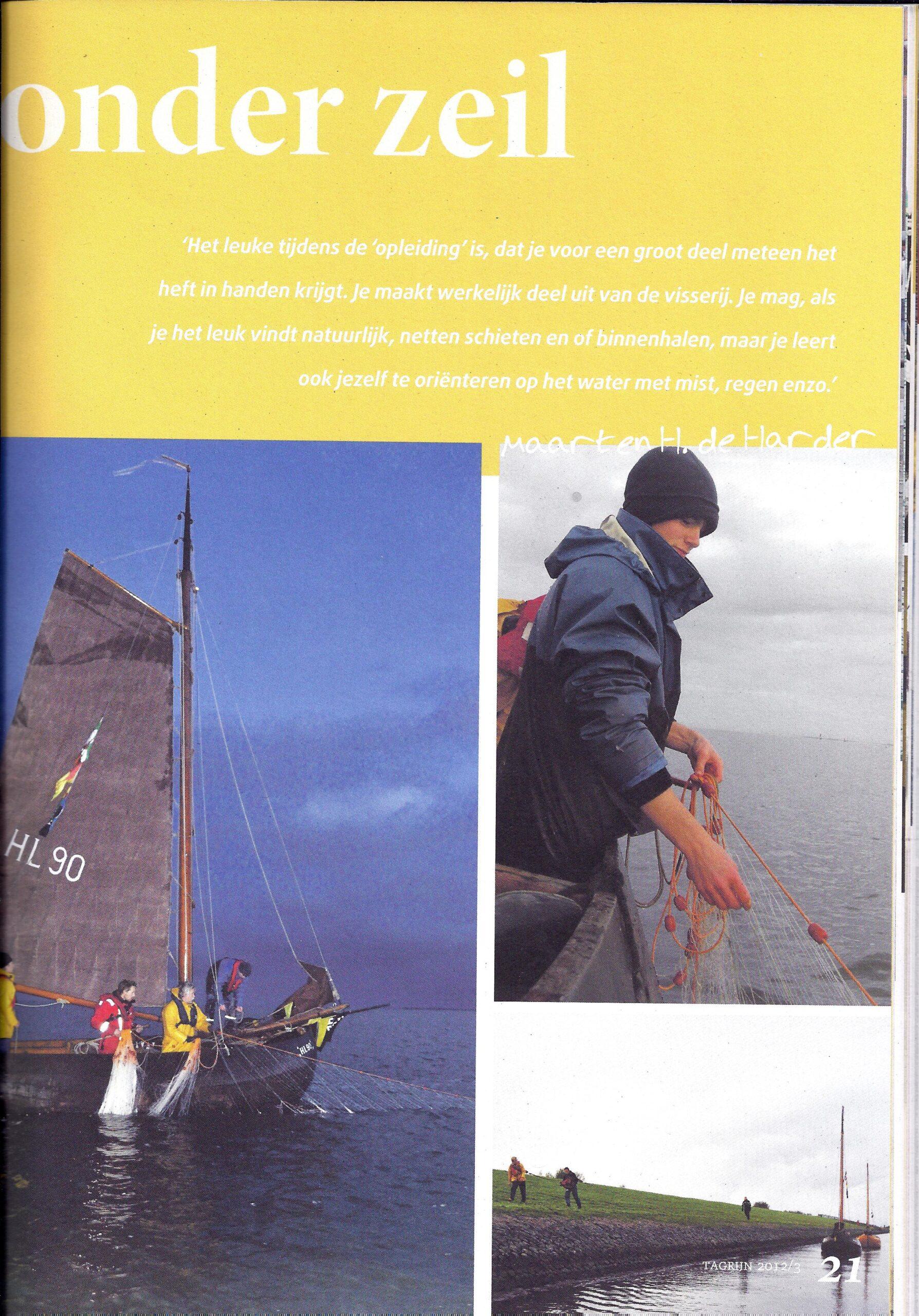 Tagrijn 2012 Jonge Visser onder zeil | Pagina 2.