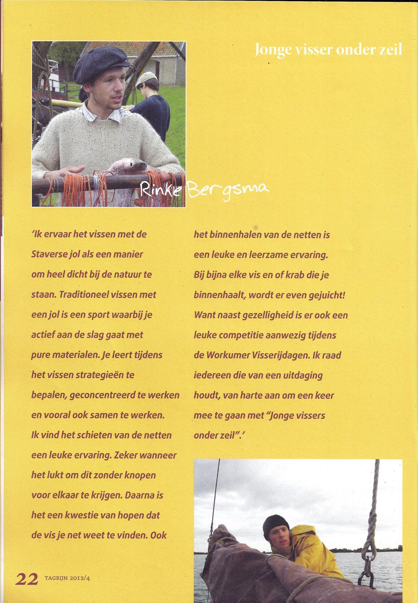 Tagrijn 2012 Jonge Visser onder zeil | Pagina 3.