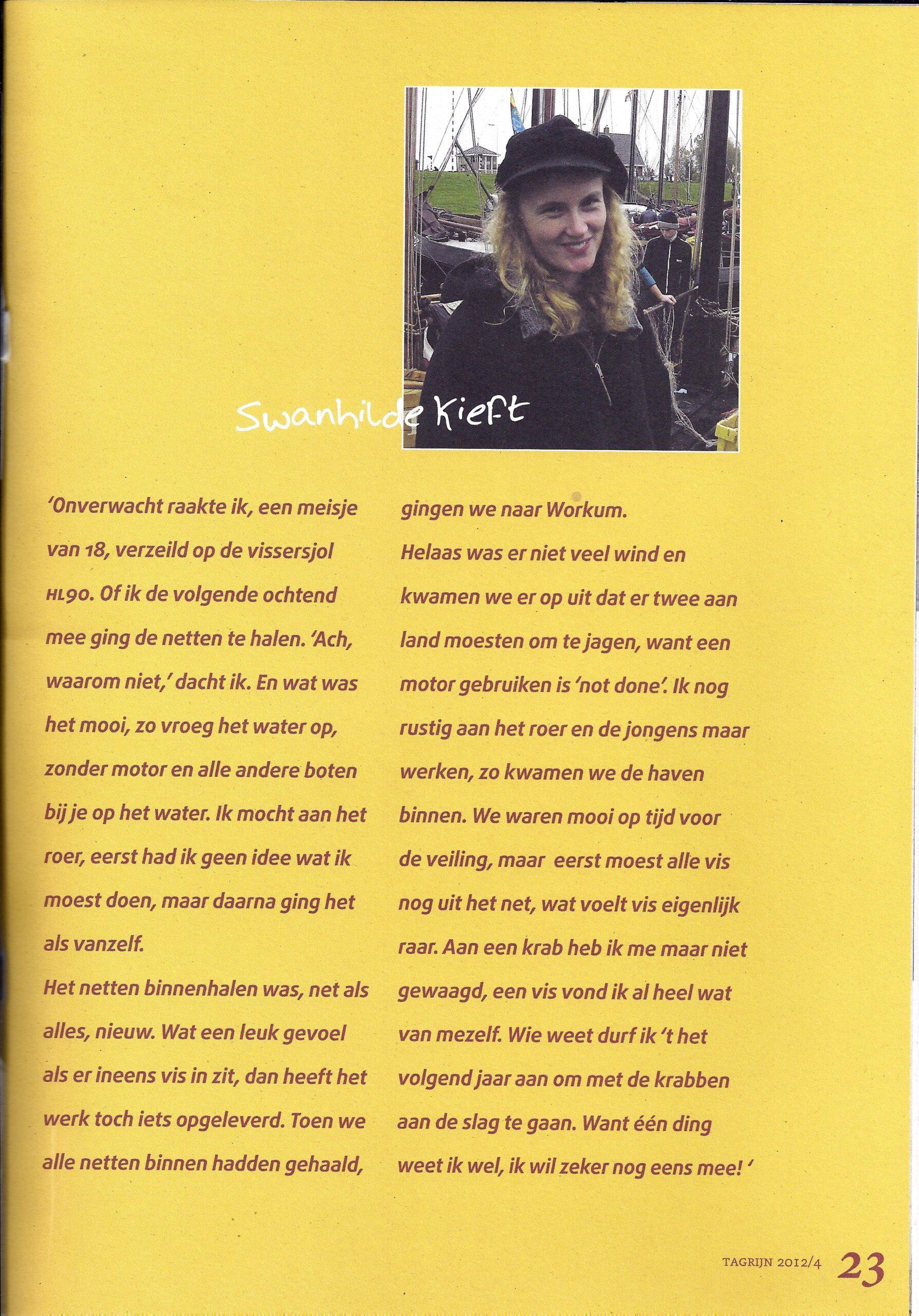 Tagrijn 2012 Jonge Visser onder zeil | Pagina 4.