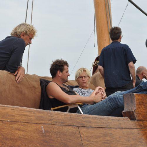 Op het startschip tijdens Zeilwedstrijden