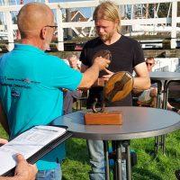 De winnaar van de wisselprijs van Hindeloopen: Ivor van Klink in de visserijklasse
